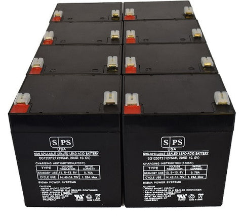 12V 5Ah batteries T2 - 8 pack