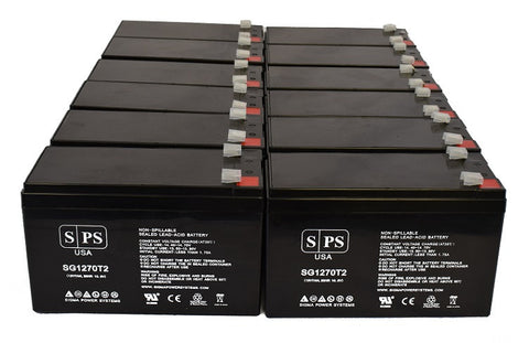 Alpha Technologies pinbp2000 3000t  UPS Battery Set 12V 7Ah