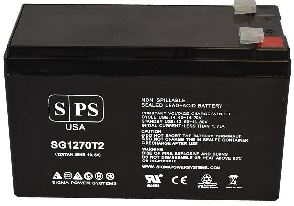 This is an AJC Brand Replacement APC AP AP AP360SX 12V 7Ah UPS Battery