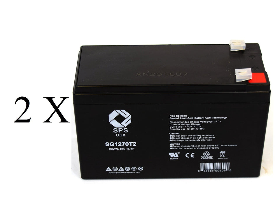 This is an AJC Brand Replacement Alpha Technologies 1250 12V 7Ah UPS Battery