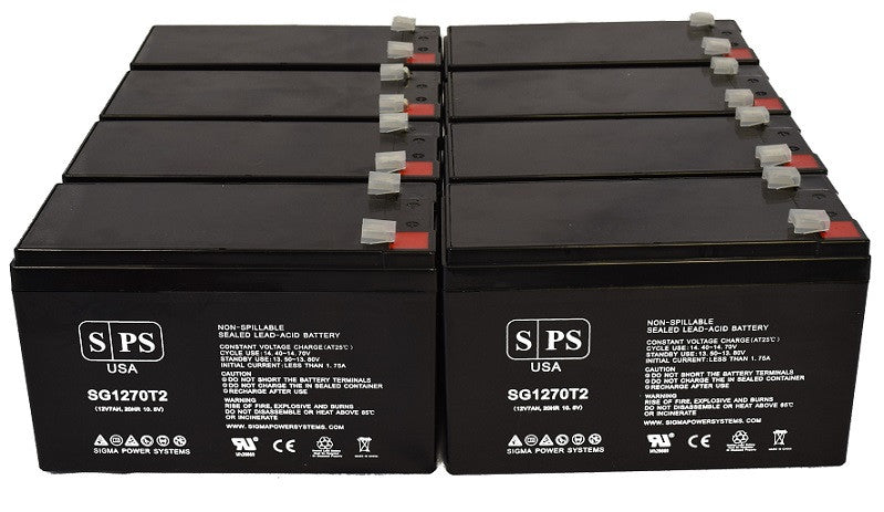 12V 7Ah with F1 Terminal Alpha Technologies ALI Plus BP700-1000//08 Multi Mount Replacement Battery Set SLA