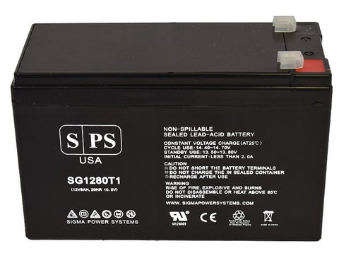 12V 8Ah rechargeable SLA battery with T1 terminals