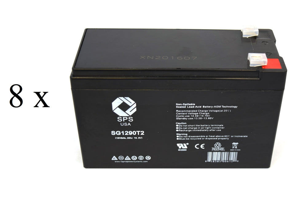 600 Replacement Battery Set Compatible with The Hewlett Packard HP 6V 10Ah F2 2