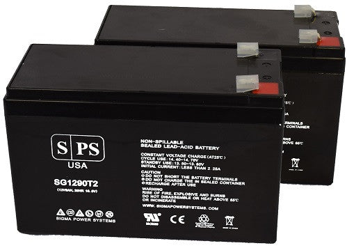 2 Pack SPS Brand 12V 2.3Ah Camcorder Replacement Battery for JC Penney 6865116 Video Camera