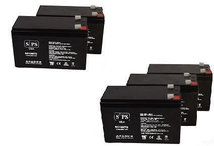 Parasystems Minuteman CP 1KA UPS battery set 12V 9Ah - 5 Pack