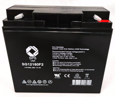 12V 18Ah rechargeable SLA (Sealed Lead Acid) battery with T2 (F2) terminals