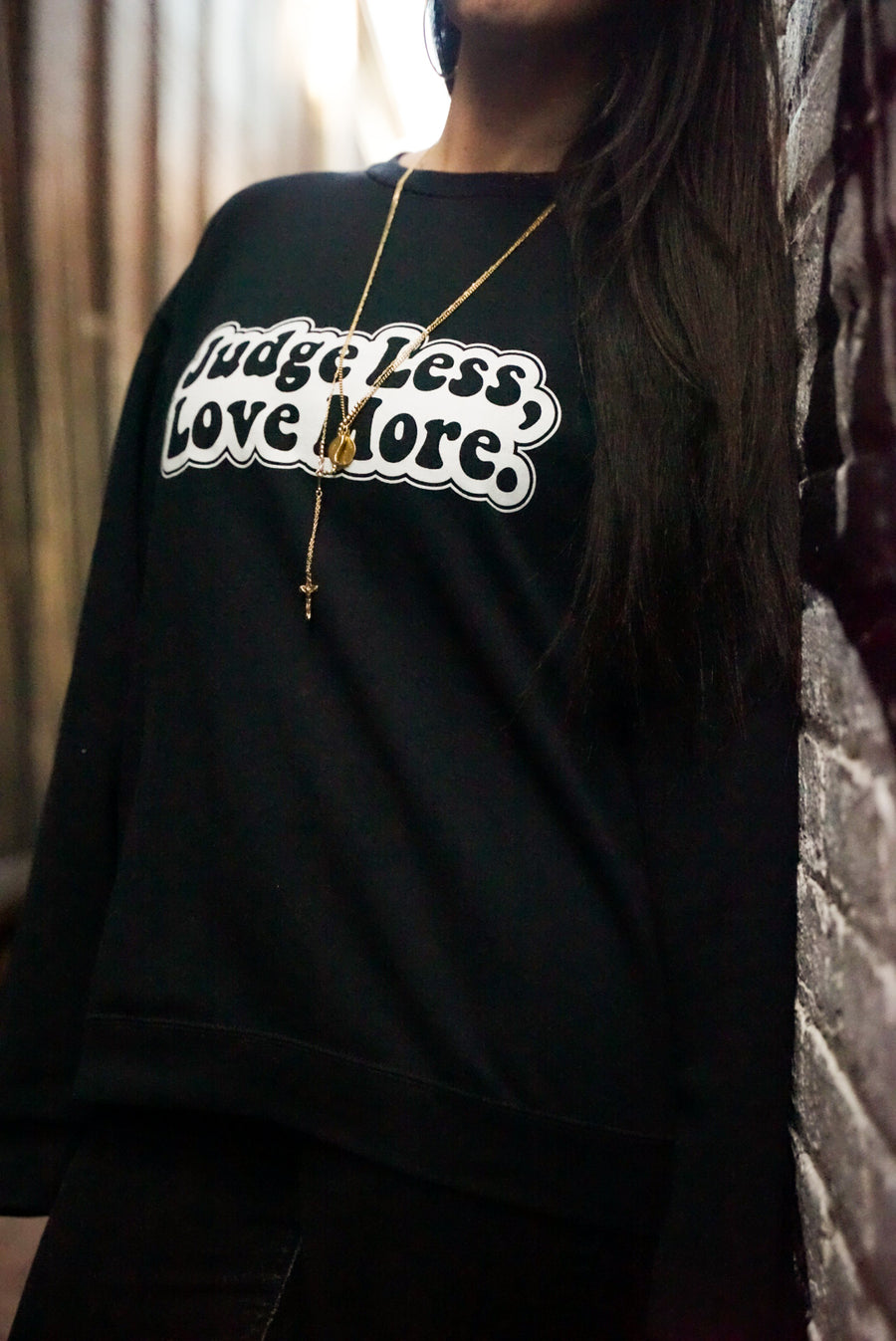 Judge Less, Love More. Unisex Sweater