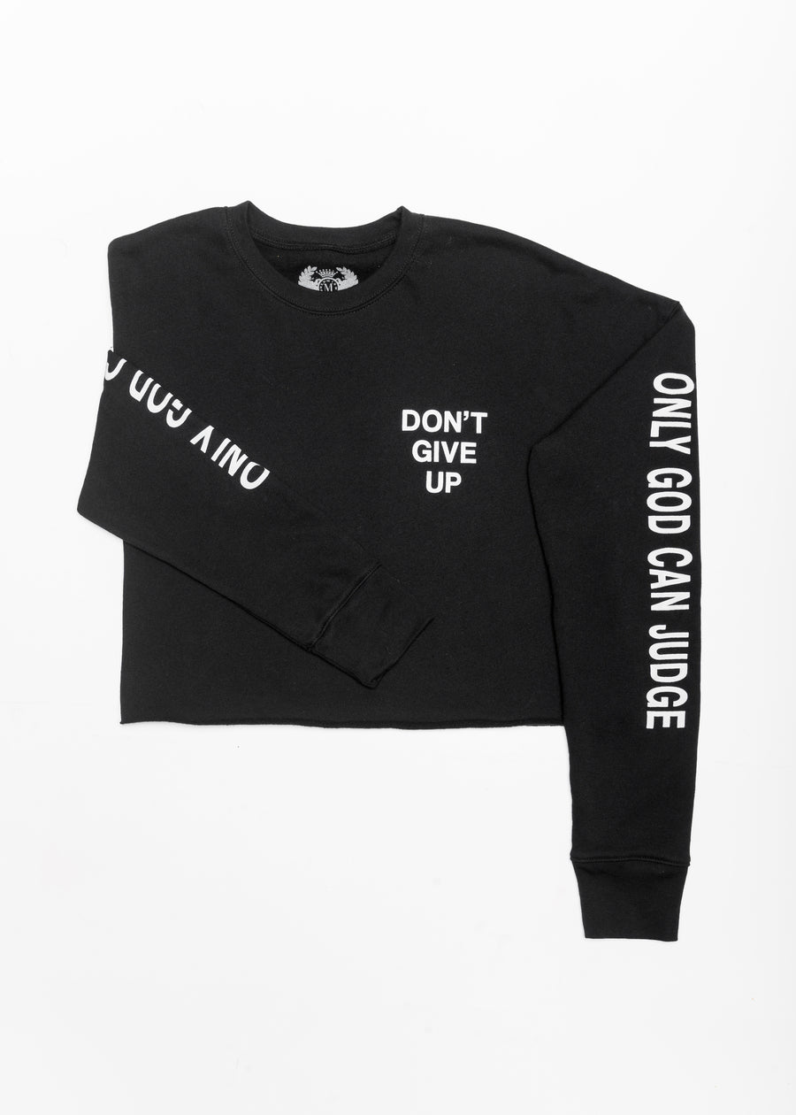 DON'T GIVE UP Crop Sweater *NEW COLOR