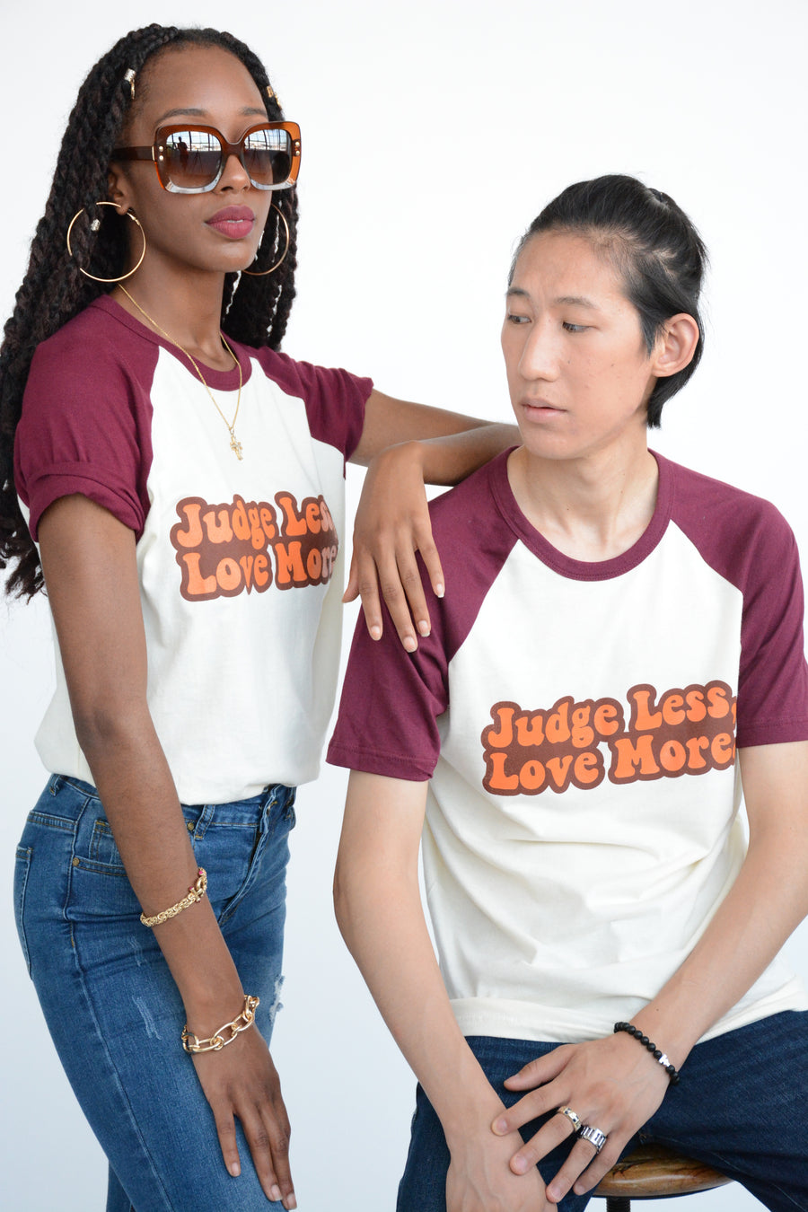 Judge Less, Love More. Retro Unisex Tee