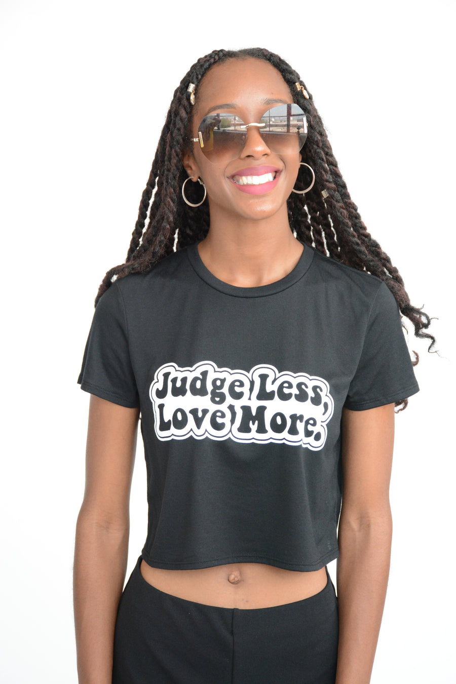 Judge Less, Love More. Crop Top