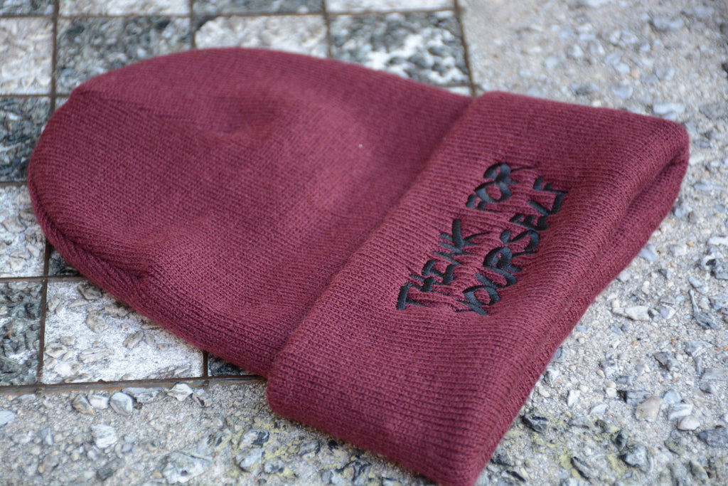 Think for Yourself Double Sided Beanie