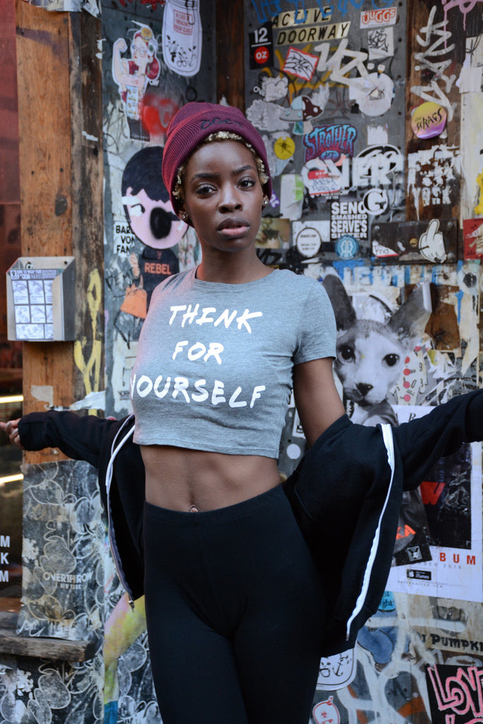 Think for Yourself Crop Top