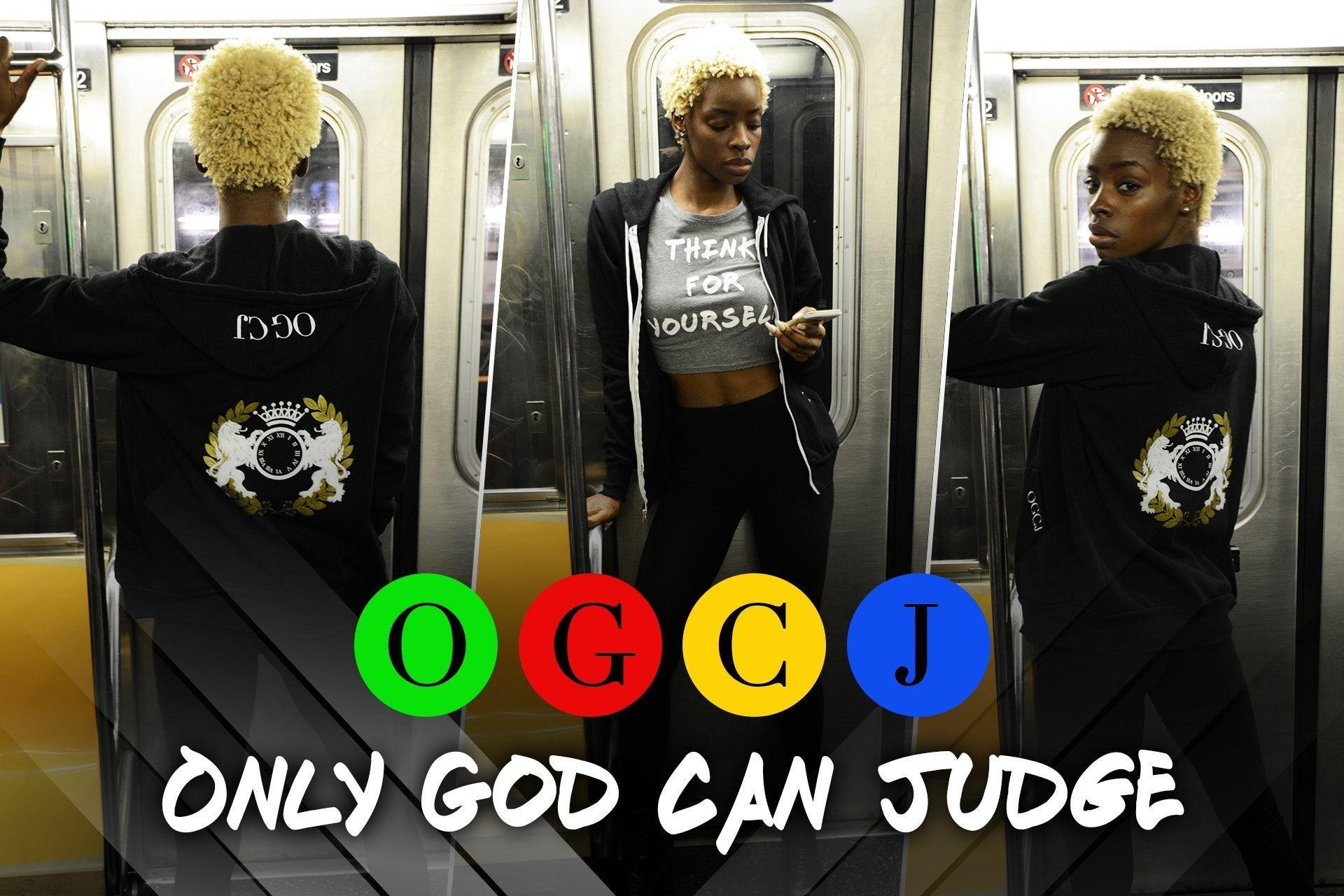 OGCJ - Only God Can Judge Streetwear Clothing Company; think for yourself collection, men and women