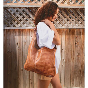 BedStu Ariel Handbag in Tan Dip Dye