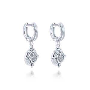 Sterling Silver and Diamond Drop Earrings