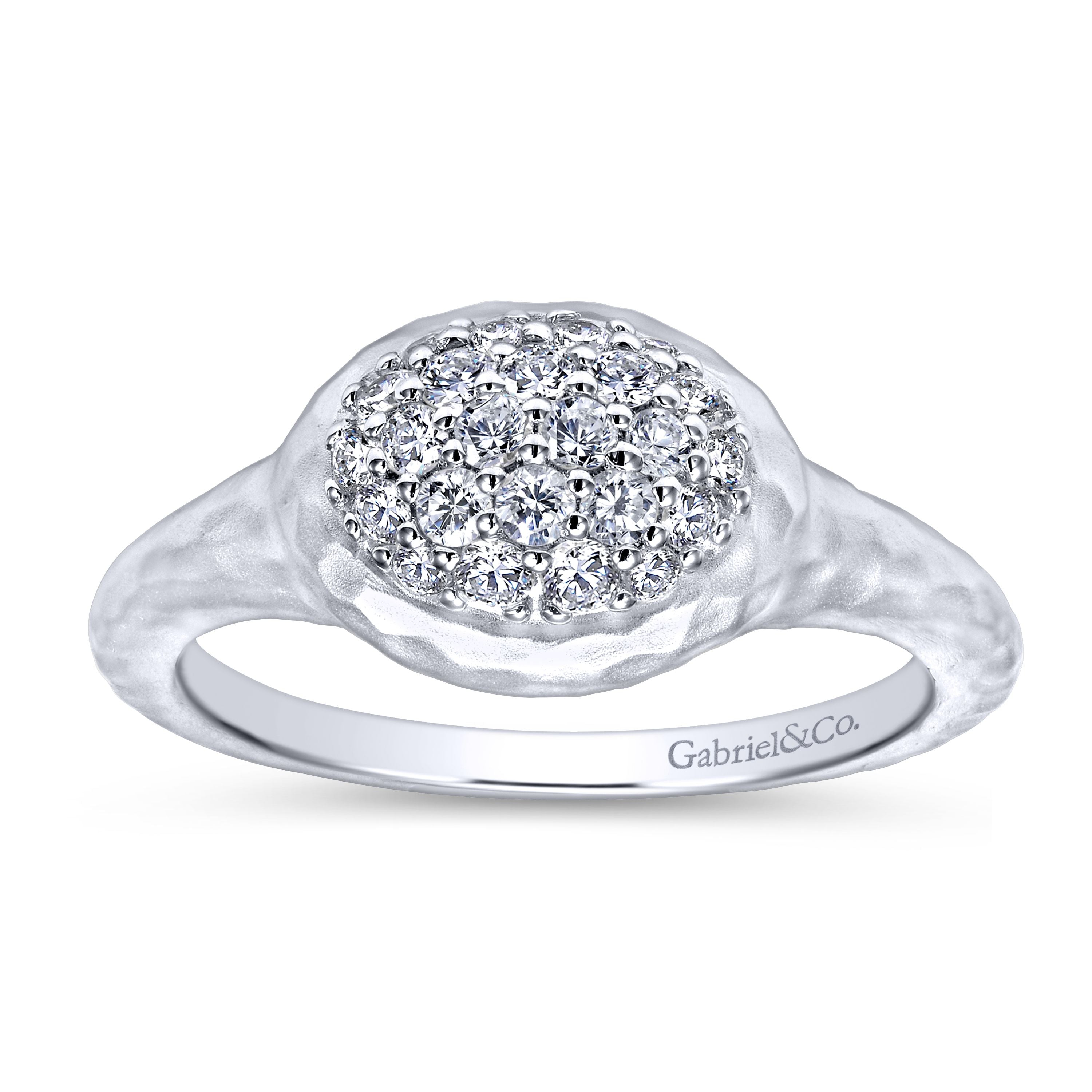 Sterling Silver White Sapphire Ring