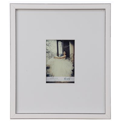 Gallery Collection Frame #10 - White / Silver