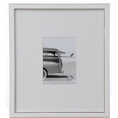 Gallery Collection Frame #9 - White / Silver