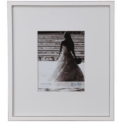 Gallery Collection Frame #5 - White/silver
