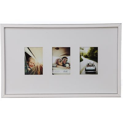 Gallery Collection Frame #4 - White/silver
