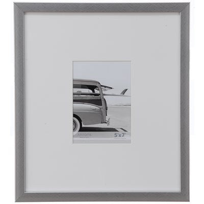Gallery Collection Frame #9 - Cross hatch Silver