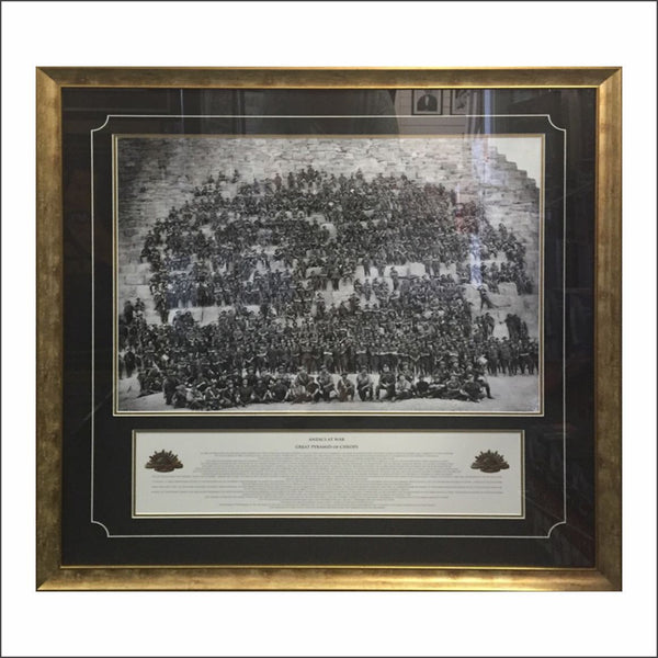 ANZACS - On the Pyramids - Object Framers, Object Framers - Picture Framer Perth