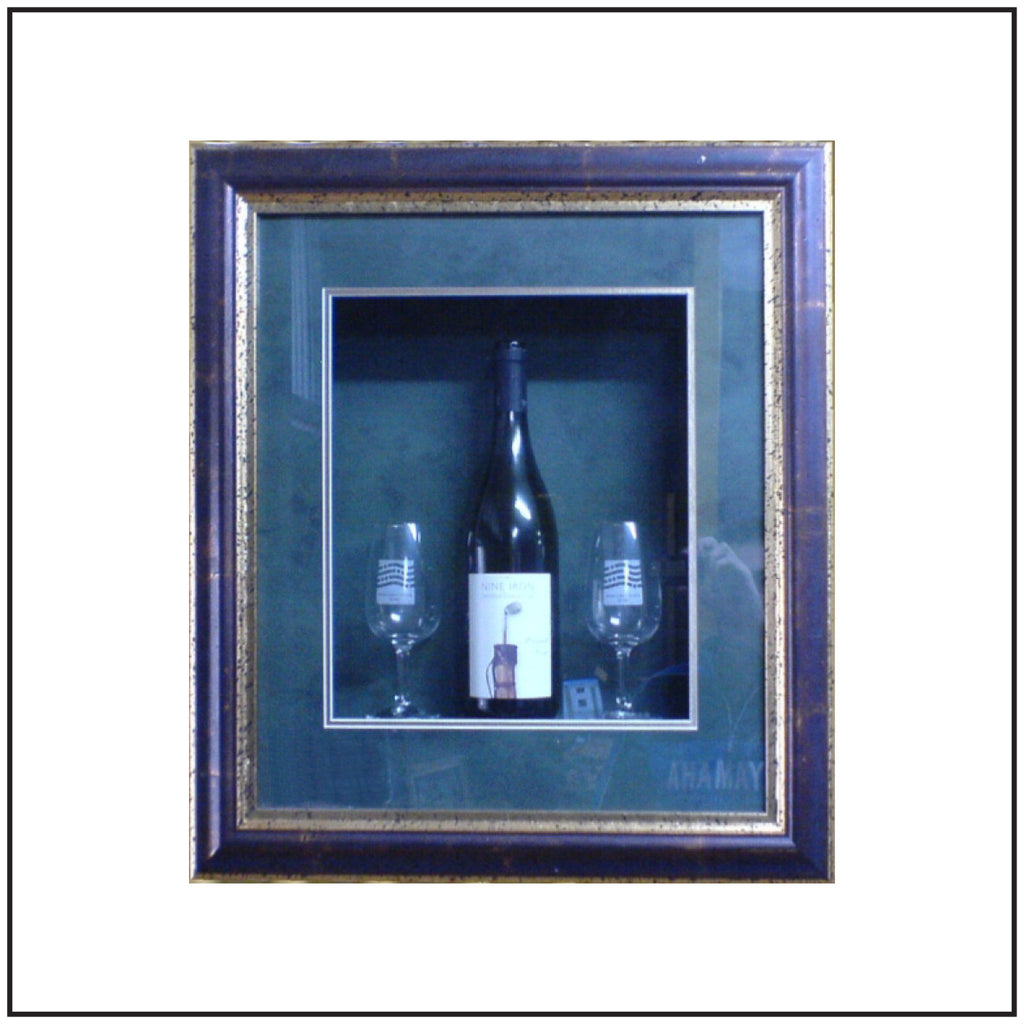 FRAMING OF WINE BOTTLES LOOKS GREAT!