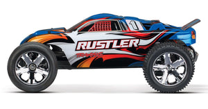 37054-1-BLUE Rustler 10th Scale 2WD Brushed TQ 2.4GHz Blue