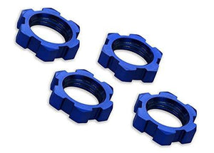 Traxxas 7758 X-Maxx Serrated, Blue-Anodized Wheel Nuts (set of 4)