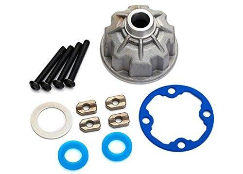 Carrier, differential (aluminum)/ x-ring gaskets (2)/ ring gear gasket/ spacers (4)/ 12.2x18x0.5 MW