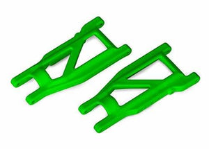 3655G - Suspension arms, green, front/rear (left & right) (2) (heavy duty, cold weather material)