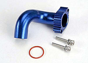 Header, blue-anodized aluminum (for rear exhaust engines only) (TRX 2.5, 2.5R, 3.3)