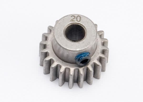 Gear, 20-T pinion (0.8 metric pitch, compatible with 32-pitch) (fits 5mm shaft)/ set screw
