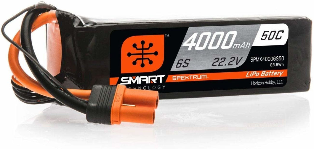4000mAh 6S 22.2V 50C Smart LiPo Battery; IC5