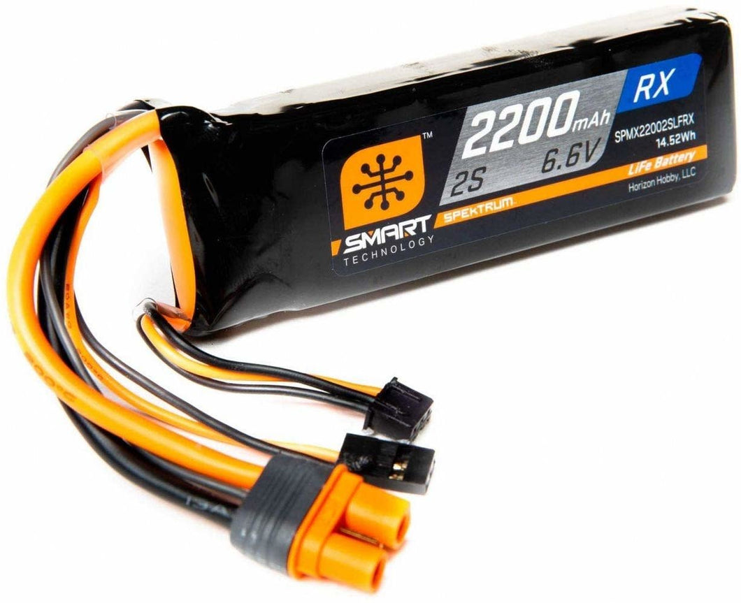 2200mAh 2S 6.6V Smart LiFe Receiver Battery; IC3