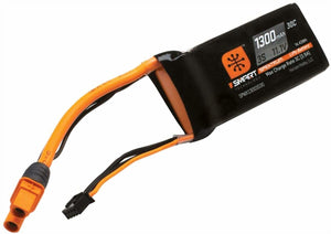 1300mAh 3S 11.1V Smart LiPo Battery 30C IC3