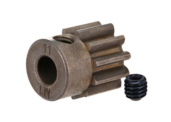 Gear, 11-T pinion (1.0 metric pitch) (fits 5mm shaft)/ set screw (compatible with steel spur gears)
