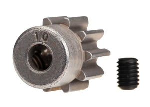 Traxxas 6746 10 Tooth Steel Pinion Gear, Silver
