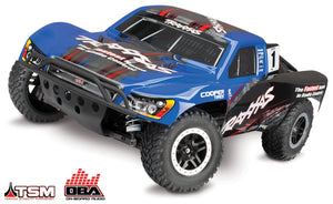 68086-24 - Slash 4X4  1-10 Scale 4WD Electric Short Course Truck with TQi Traxxas Link Enabled 2.4GHz Radio System, On-Board Audio, & Traxxas Stability Management (TSM)   Blue