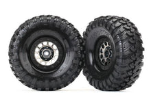 Load image into Gallery viewer, Tires and wheels, assembled (Method 105 black chrome beadlock wheels, Canyon Trail 1.9' tires, foam inserts) (1 left, 1 right)