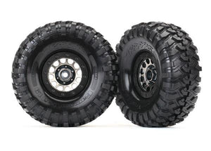 Tires and wheels, assembled (Method 105 black chrome beadlock wheels, Canyon Trail 1.9' tires, foam inserts) (1 left, 1 right)