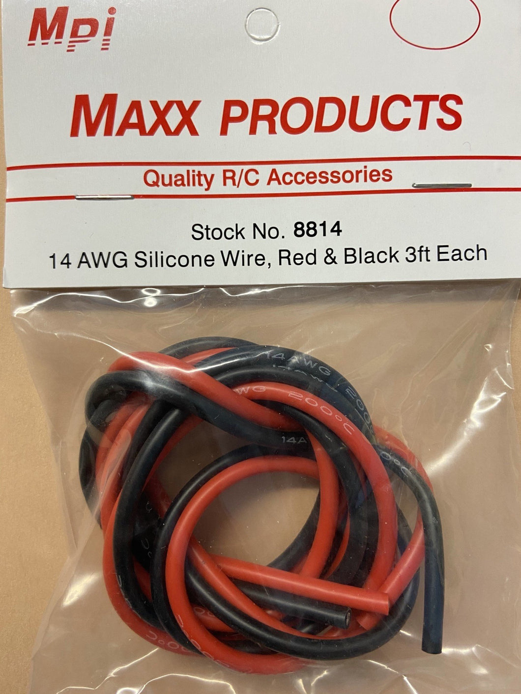 14 AWG SILCON WIRE RD&BLK 3FT (Wall P)