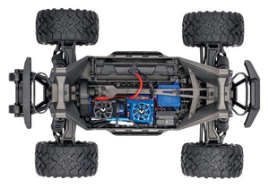 Maxx: 1/10 Scale Monster Truck. Ready-To-Race® with TQi™ 2.4GHz radio system with Traxxas Stability Management™, Self-Righting, and VXL-4s ESC