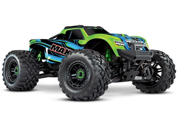 Green  Maxx: 1/10 Scale 4WD Brushless Electric Monster Truck with TQi Traxxas Link Enabled 2.4GHz Radio System & Traxxas Stability Management (TSM)