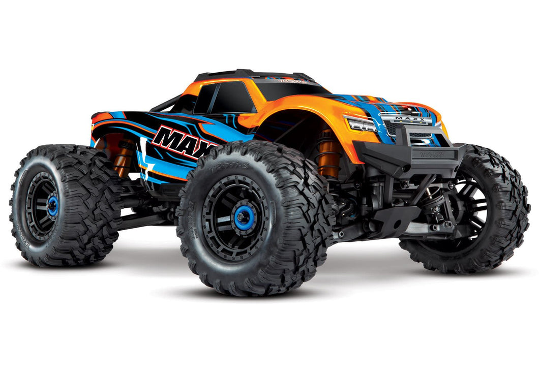 Orange-Maxx: 1/10 Scale 4WD Brushless Electric Monster Truck with TQi Traxxas Link Enabled 2.4GHz Radio System & Traxxas Stability Management (TSM)