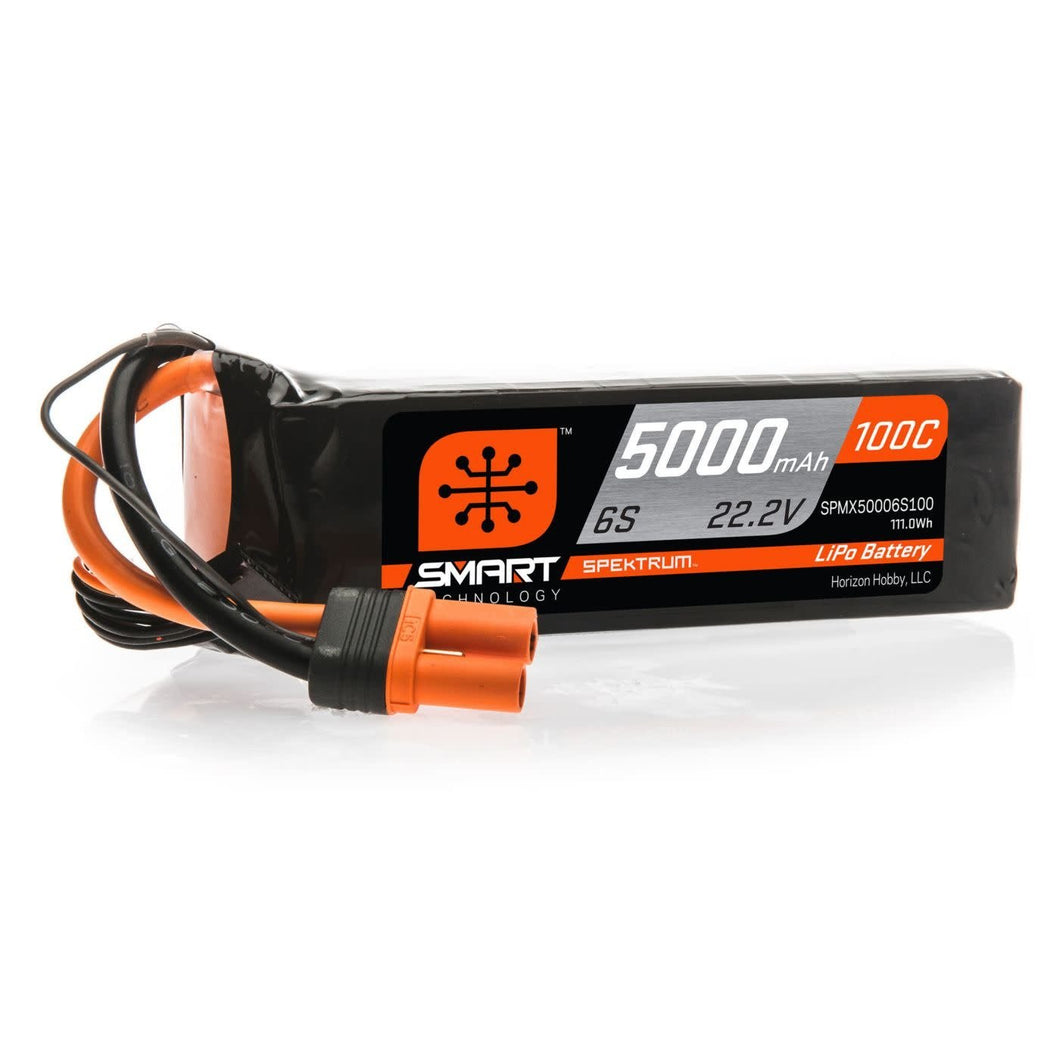 5000mAh 6S 22.2V 100C Smart LiPo Battery; IC5