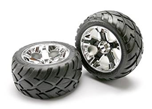 5577R Anaconda Tires with Chrome All-Star Wheels 2.8 Inch Front (2)