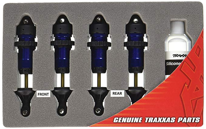 Traxxas 5460A Blue-Anodized Aluminum GTR Shocks (fully assembled w/o springs) (set of Four)
