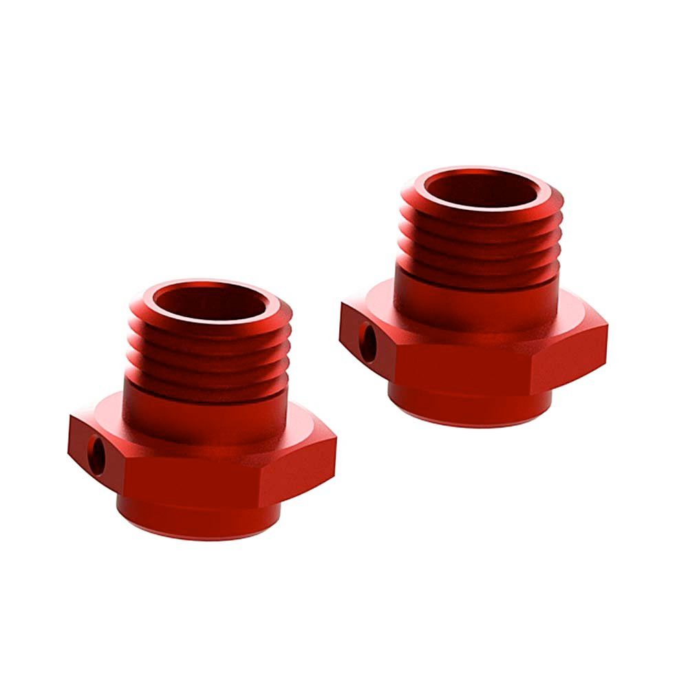 AR310484 Wheel Hex Alumn 17mm/16.5mm Red (2)