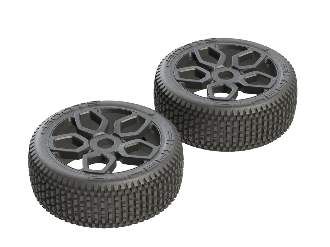 AR550027 Exabyte NB Buggy Tire Set Pre-glued